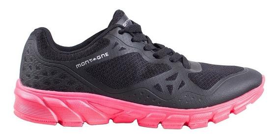 Zapatillas Montagne Acelerate Running Negro/rosa