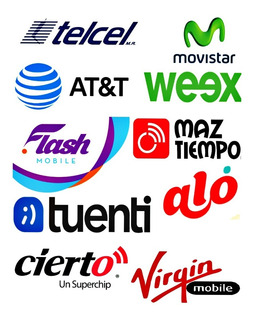 Recargas Electronicas 20 Tiempo Aire Telcel, Movistar, At&t