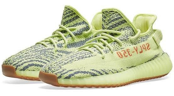 Tênis adidas Yeezy Boost 350 Semi Frozen Yellow Original