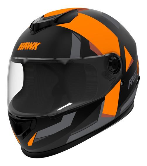 Casco Moto Hawk Rs1 F Integral Naranja Tienda Oficial Full