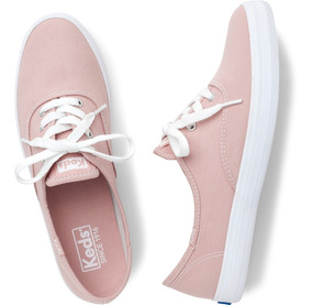 Kd100987 Tênis Keds Champion Woman Canvas Tecido Rosa Novo