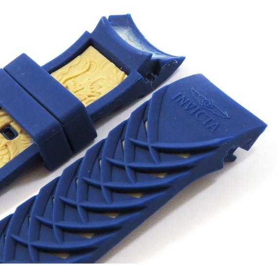 Pulseira Invicta S1 Yakuza Silicone Na Cor Azul