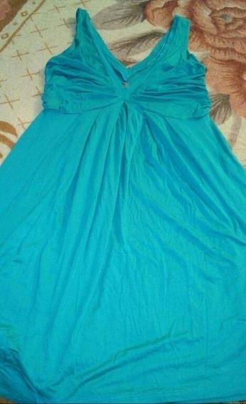 Vestido Marca Zara Talla M Color Turquesa