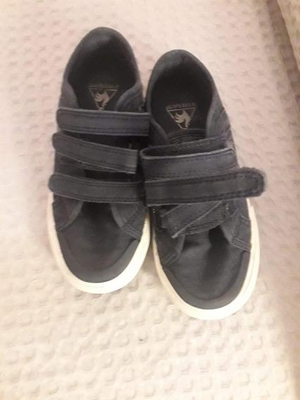 Zapatillas Usadas Le Coq Con Velcro De Lona Talle 28 Nene
