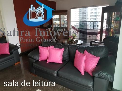 Cobertura De 3 Dormitórios Sendo 3 Suítes, Com Moveis Planejados Nos Cômodos, Na Vila Tupi, 150 Metros Do Mar - Co00014 - 68389959