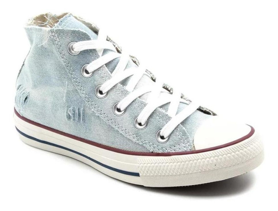 Tênis All Star Feminino Hi Core Ct11970002 Cano Médio Jeans