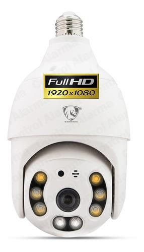 Imagen 1 de 10 de Camara Domo Socket E27 Foco Ip Wifi Rastreo Seguridad Fhd