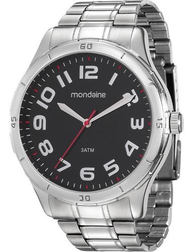 Relógio Masculino Mondaine Prateado Barato Original Garantia