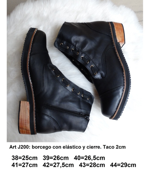 Borcego Con Elástico Horma Ancha - Talles Grandes - Art J200