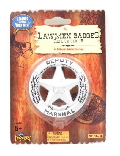 Placa De Plastico De Sheriff Marshal Envio Gratis