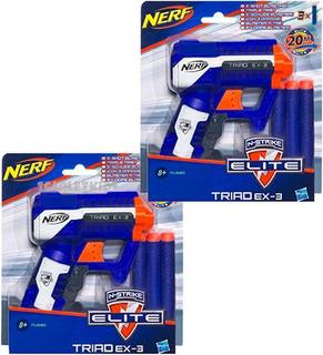 Nerf Elite 2 Unidades Triad Ex3 + Dardos Combo Hasbro
