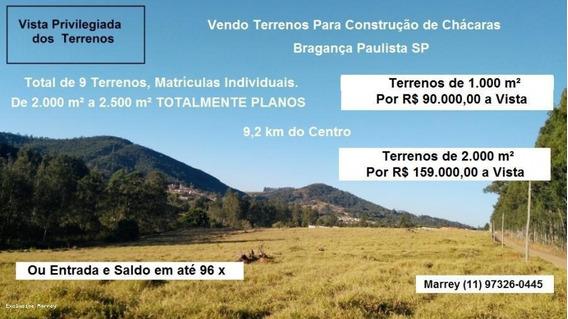 Terreno Para Venda Bragança Paulista, Plano Para Construção De Chácara - 508