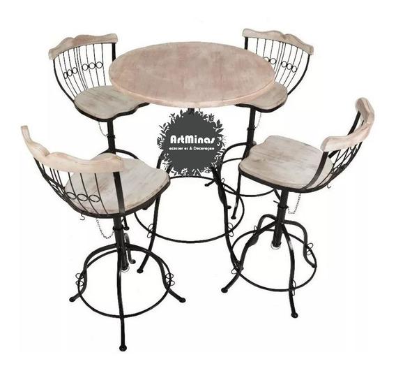 Conjunto Mesa Cozinha 4 Cadeiras Bistrô Madeira Oferta