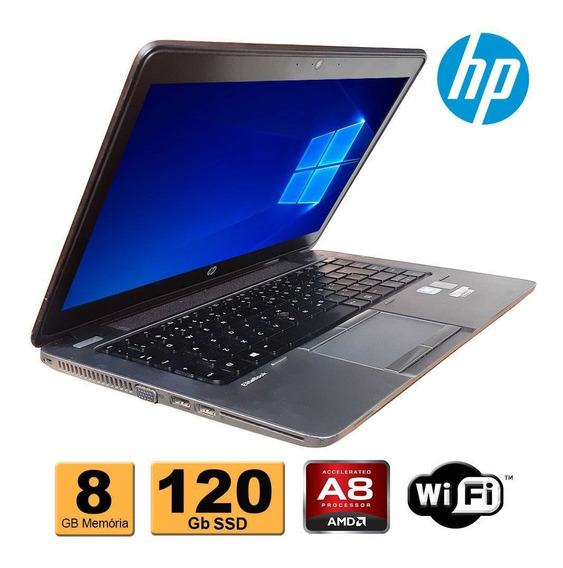 Notebook Hp Elitebook 745 Amd 8gb Ddr3 Ssd 120gb Refurbished