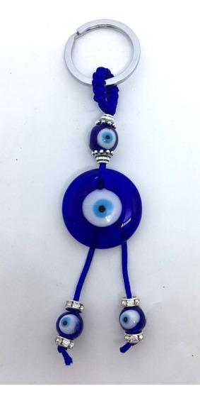 Chaveiro E Amuleto Esotérico Com Olho Grego - Carro E Casa
