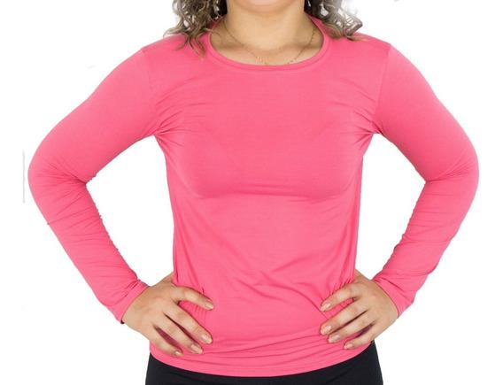 Camiseta Segunda Pele Feminina Com Proteção Solar Uv 50+