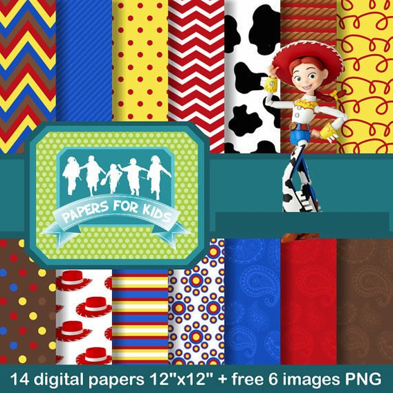 Kit Imprimible Pack Fondos Jessie Toy Story 9 Clipart