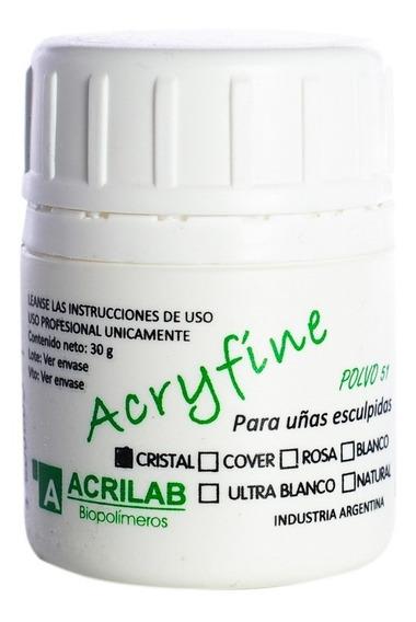Acryfine Polimero Construcción Uñas Esculpidas Cristal 30gr