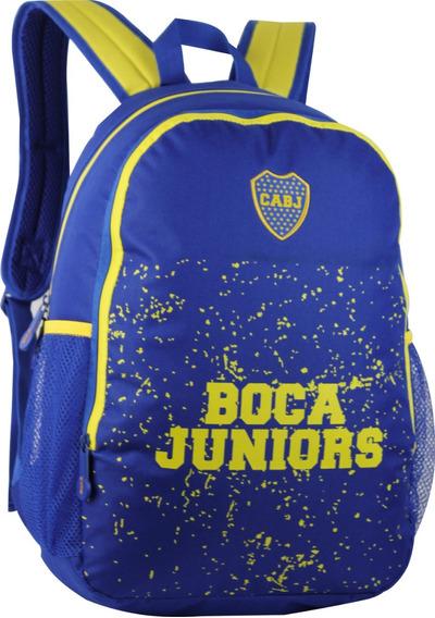 Mochila Boca Juniors Espalda 17,5 Pulgadas Oficial Bj55 Env