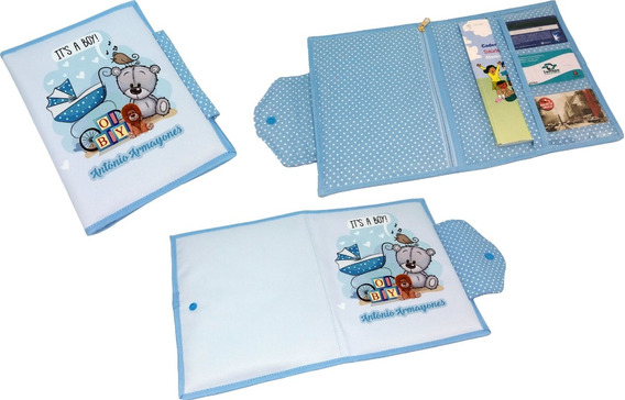 Porta Caderneta De Vacinação E Documentos Personalizada Urso
