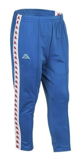 Pantalon Kappa Hombre Adern Azul Blanco Rojo