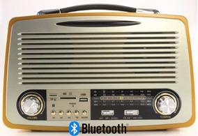 Rádio Retro Antigo Am Fm Sw Bluetoooth Recarregavel Usb Mp3