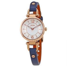 Relógio Fóssil Geórgia Mini Branco Dial Ladies-es4026