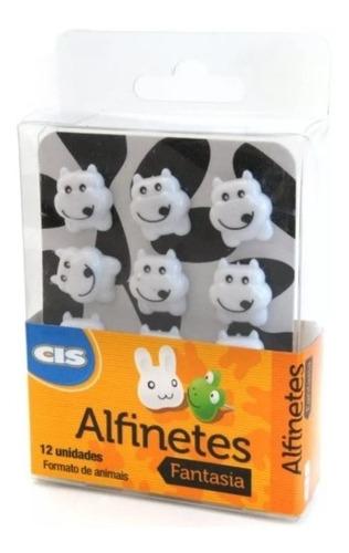 Alfinetes Decorativos Cis Fantasia Vaca Estojo Com 12 Unds