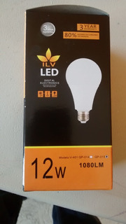 Foco Led Bombilla 12 W ,luz Calida