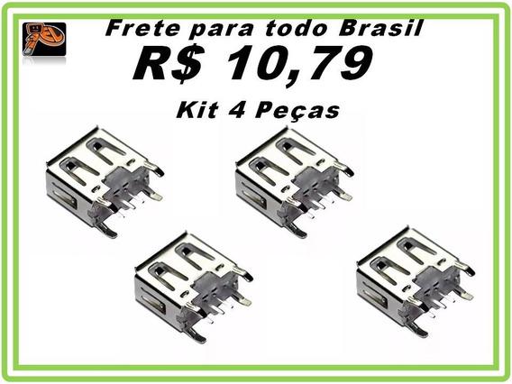 Conector Usb Femea Pioneer 100% Original Kit 4 Peças