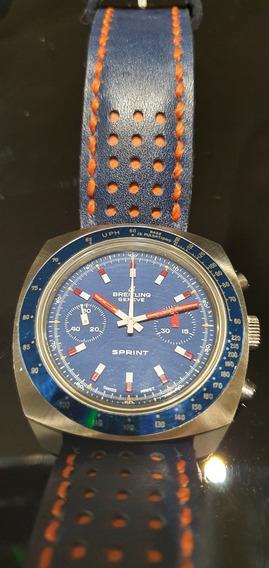 Relogio Breitling Sprint Vintage Decada De 70 - Impecável