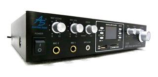 Amplificador Teatro En Casa Usb Bluetooth 5 Salidas