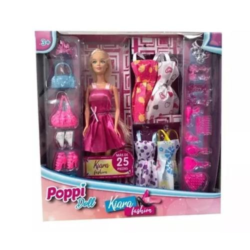 Imagen 1 de 10 de Muñeca Poppi Doll Kiara Fashion