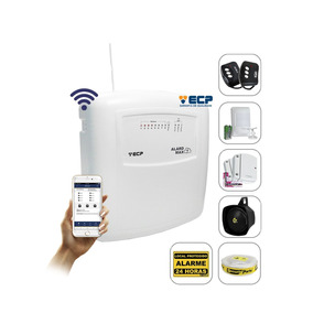 Kit Alarme S/ Fio Max Wifi Ecp Celular 3 Sensores