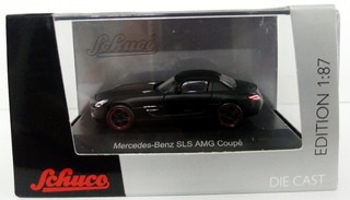 Mercedes-benz Sls Amg Coupé (mattschwarz)- 1/87 H0 Schuco