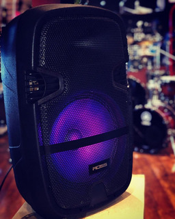 Parlante Karaoke Mp3 Sd Usb Bluetooth Led Efecto Ross Rp15ml