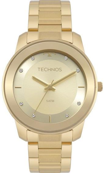Relogio Feminino Technos Dourado Fashion 2036mkd4x