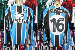 Grêmio 2000 Camisa Titular Tamanho G Mangas Longas # 16.