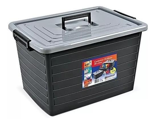 Caixa Container Multiuso Organizador 50 Litros