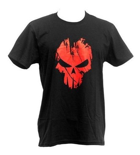 Camiseta Masculina Caveira Rock Airsoft Bravo Spectral Preta