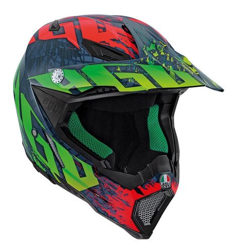 Casco Cross Enduro Agv Ax-8 Multi  Nohander Importado