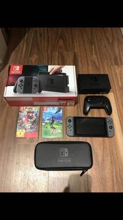 Nintendo Switch Dos Juego Y Estuche Nuevo