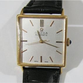 Relógio Pulso Omega Swiss Made Automático, Folhado A Ouro