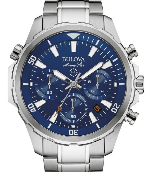 Relógio Bulova Masculio Star Marine Crono 96b256