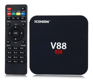 Tv Box 4k H.265 Android Iptv Scishion V88 1gb Ram/8gb Rom