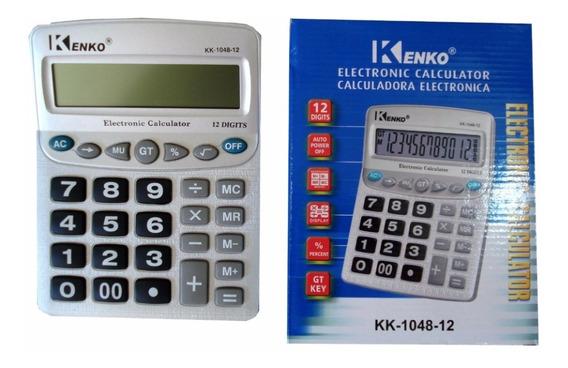 Calculadora Kenko 12 Dígitos De Mesa - Kk-1048-12 Nf