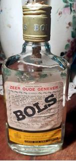 Antigua Botella Petaca De Ginebra Bols Cerrada