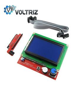 Display Lcd 128x64 Impressora 3d Reprap Com Leitor Sd