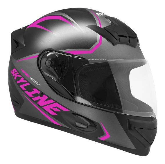 Capacete Moto Mixs Mx2 Skyline Fosco/brilhante Com Nf