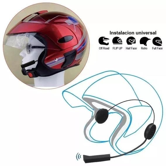 Fone Bluetooth Headfone Sem Fio Para Capacete Estereo